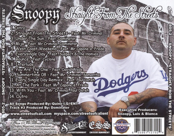 Snoopy - Straight From The Streets Chicano Rap
